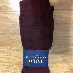 Polo Ralph Lauren men's dress socks-3 pack